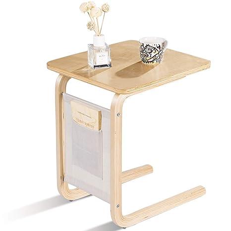 Amazon.com: Tangkula - Mesa auxiliar para sofá, mesita ...