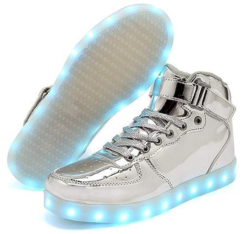 LED Chaussures Unisexe Haut-Dessus Chargement USB Clignotant Chaussures de Sport  pour Les Enfants Garcon 405fab92a7e