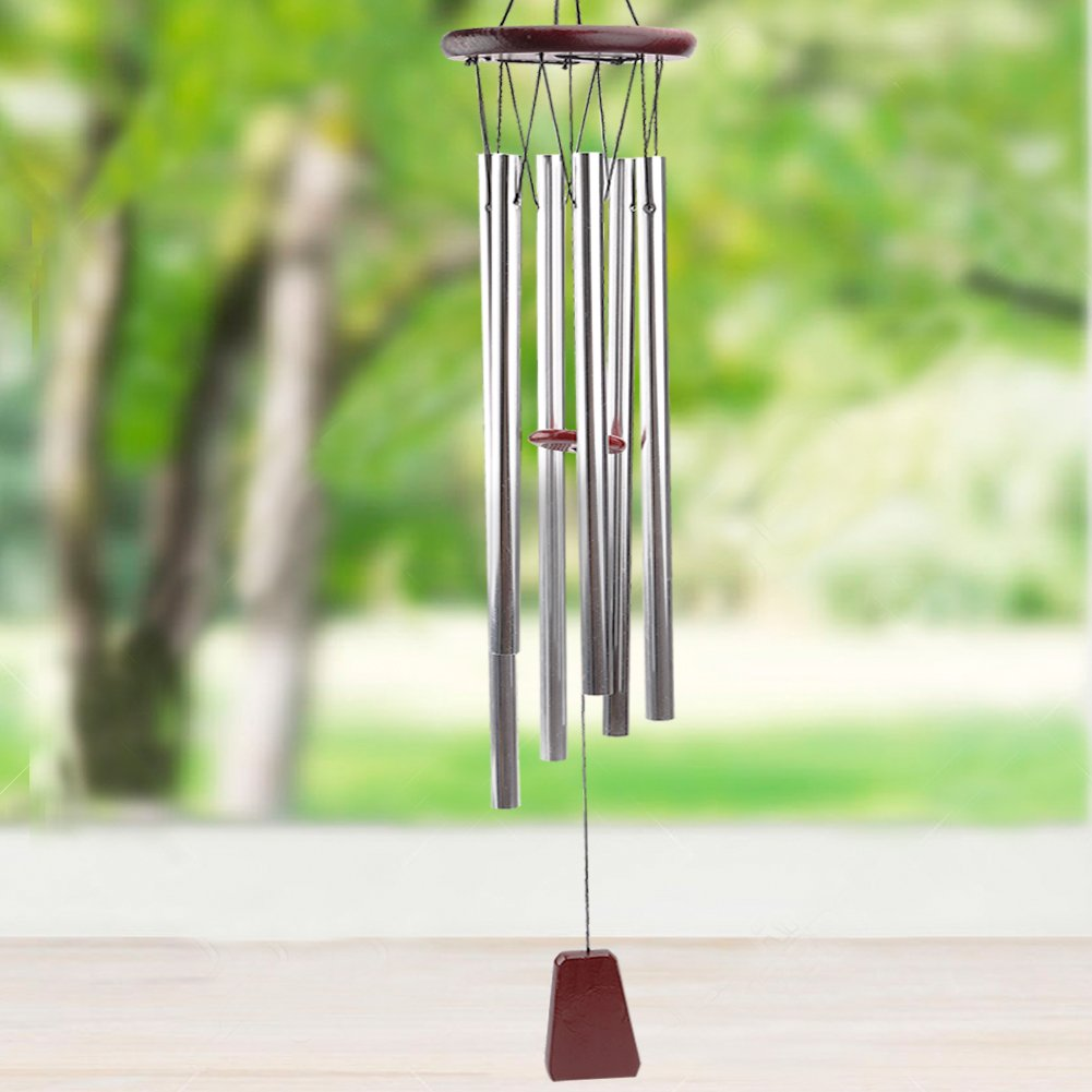 punada Beautiful Tune Wind Chimes Outdoor, 28'' Amazing Grace Wind Chimes 6 Long Aluminum Tubes, Perfect Decor for Garden, Patio, Balcony Outdoor & Indoor