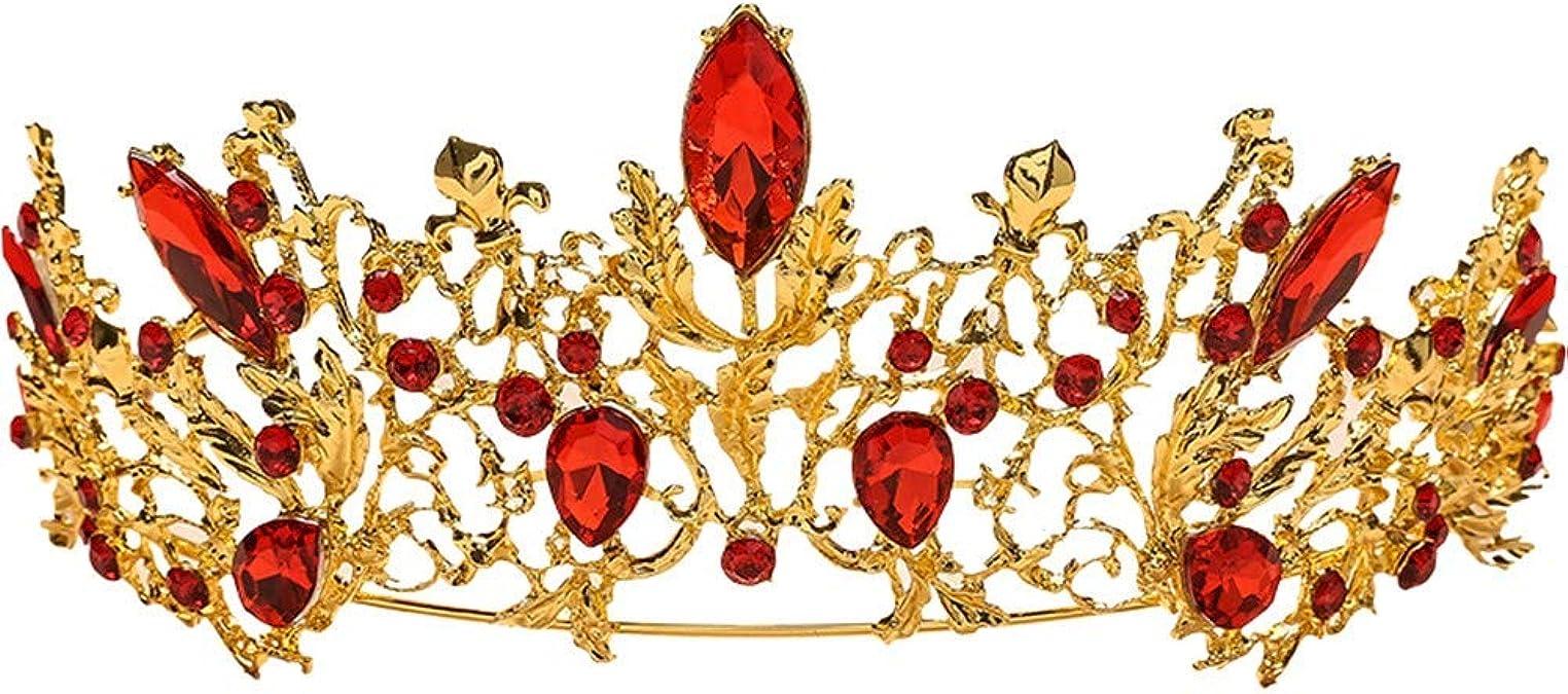Adulte Argent Couronne Diadème avec rouge Pierres accessoire robe fantaisie