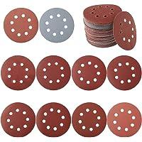 ECKRA 3139 25 Lot de 25 disques abrasifs avec 10 trous P120 Marron rouge /Ø 215 mm
