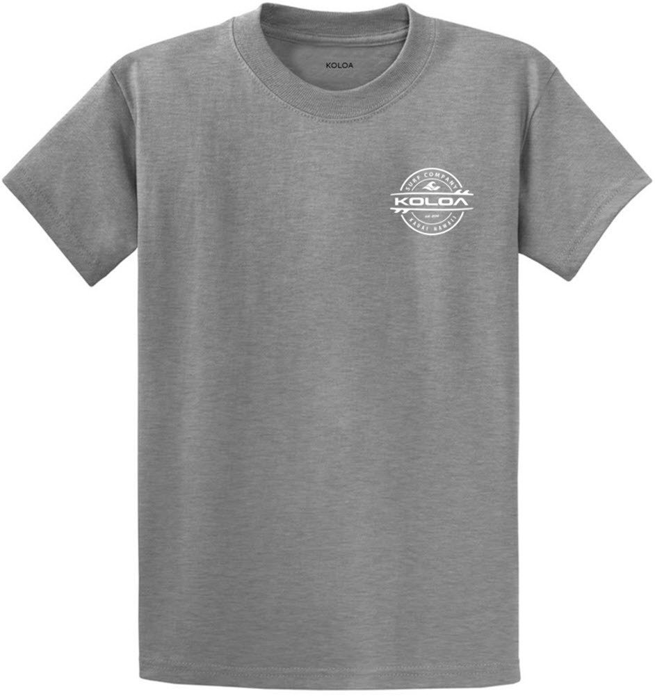 Joe's USA Koloa Surf 2-Sided Thruster Logo Heavy Cotton T-Shirt-AthHeth/w-S
