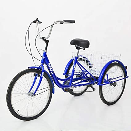 "Shimano 20/"" 3-Wheel 7-Speed Adult Tricycle Durable Bicycles Shopping Comfortable"