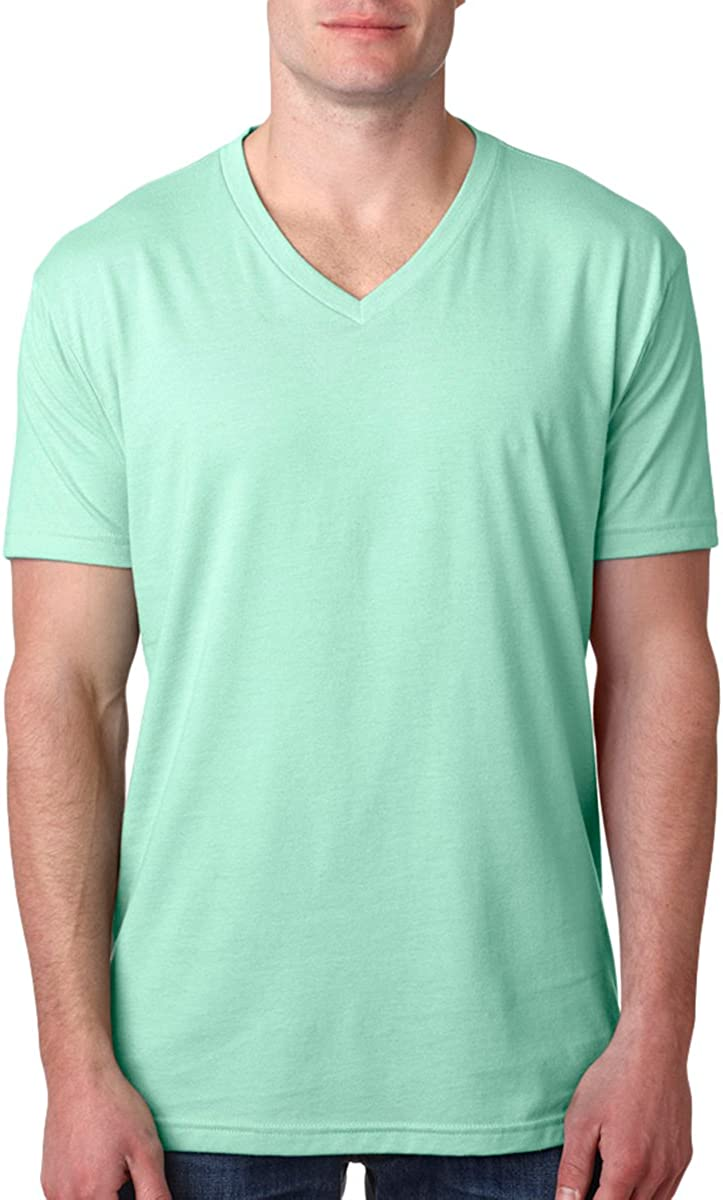 Next Level Mens Premium Sueded V-Neck shirt 6440-Turquoise 12 Pack