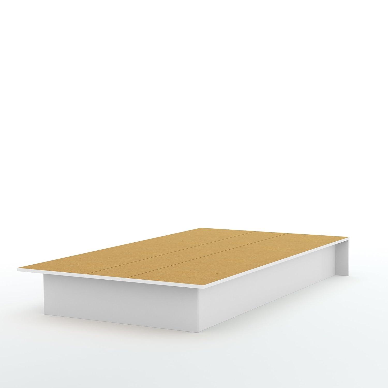 South Shore Libra Platform Bed, Twin 39-Inch, Pure Black 3070235