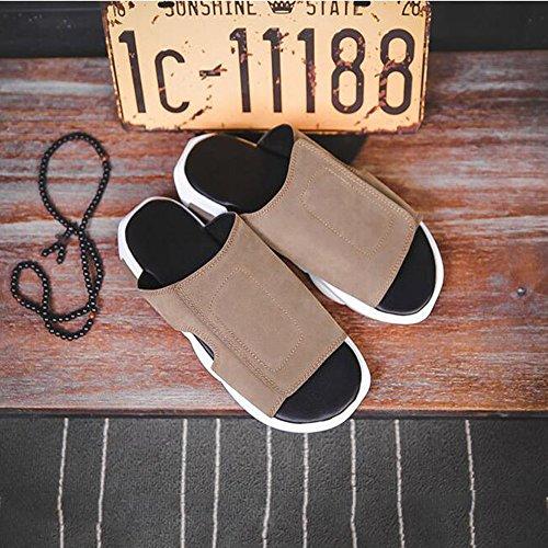 la los Deslizadores de Libre Hombres Zapatillas Size Aire 42 de EU Color Sharon Verano de Playa Zhou de de Interior al casa Zapatillas Coffee Coffee de Personalidad qz55wta