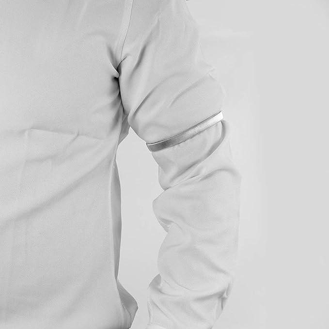 Mangas de la Camisa Soportes Bandas para el Brazo Brazalete de Metal elástico para Damas Hombres Kaemma: Amazon.es: Relojes