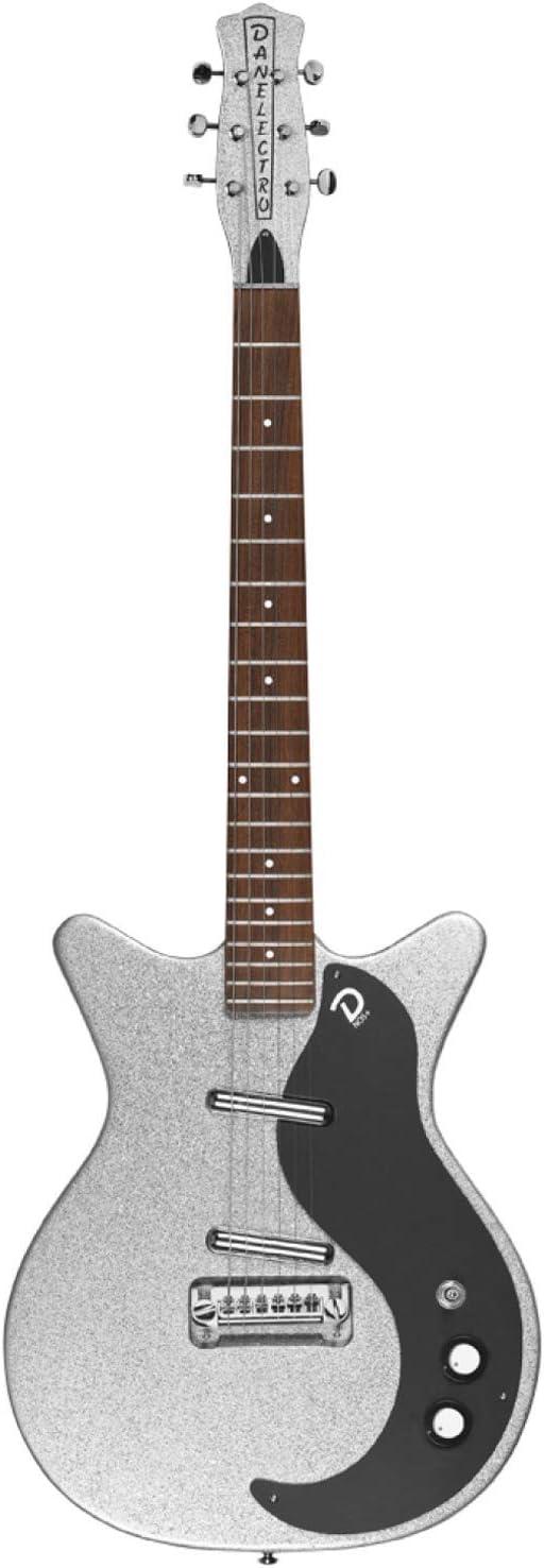 Danelectro 60th Anniversary DC '59 NOS+ Guitarra Eléctrica - Silver Metalflake