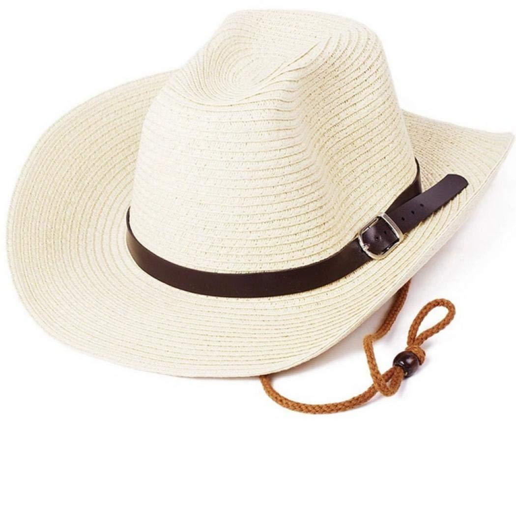 Beuway Straw Outdoor Sun Hat for Men Floppy Summer Sun Beach Straw Hat