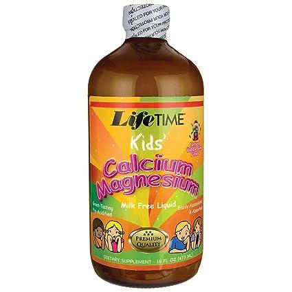 El calcio niños magnesio líquido, Chicle, 16 onzas líquidas (473 ml) -
