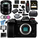 Panasonic Lumix DC- G9 DC-G9KBODY Mirrorless Micro Four Thirds Digital Camera Leica DG Nocticron 42.5mm f/1.2 ASPH. POWER O.I.S. Lens Bundle