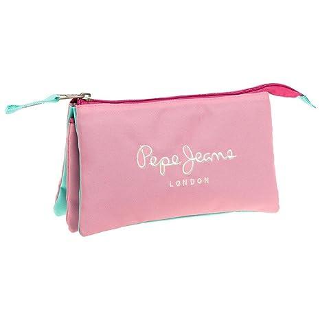 Pepe Jeans Bicolor Neceser de Viaje, 1.32 litros, Color Rosa