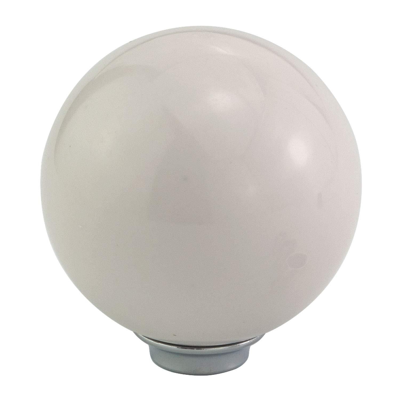 Thruifo White Cue Ball Style Shift Stick Knob Pool Billiard Shape MT Car Gear Shifter Head Fit Most Manual Automatic Vehicles