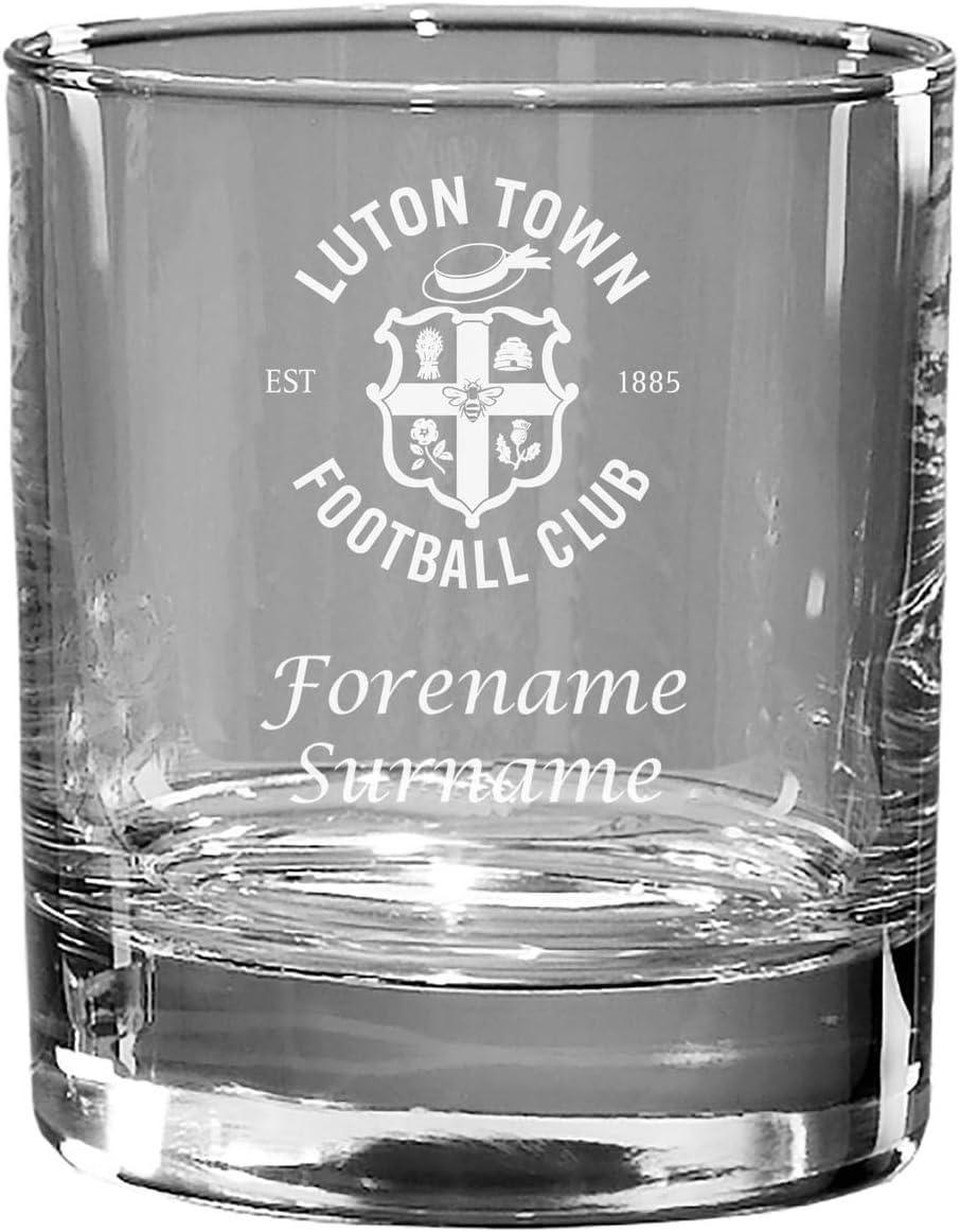 Bicchiere da Whisky Personalizzabile Luton Town FC