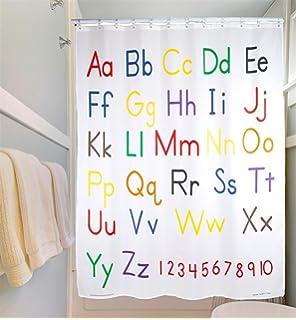 Lovely Educational Shower Curtain   Alphabet