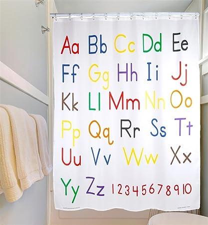 Amazon.com: Educational Shower Curtain - Alphabet: Home & Kitchen