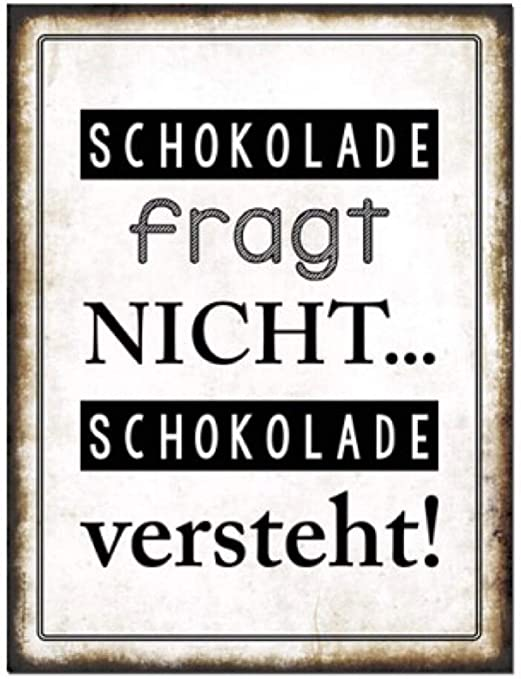 G.W. Cartel de Chapa Vintage Retro con Texto en alemán ...