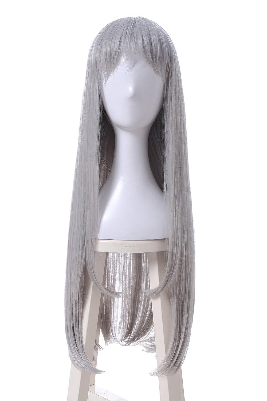 Amazon.com  ROLECOS Hideri Kanzaki Cosplay Wig Womens Long Straight Hair  Wigs Grey ML298  Beauty 32068e9bdad7