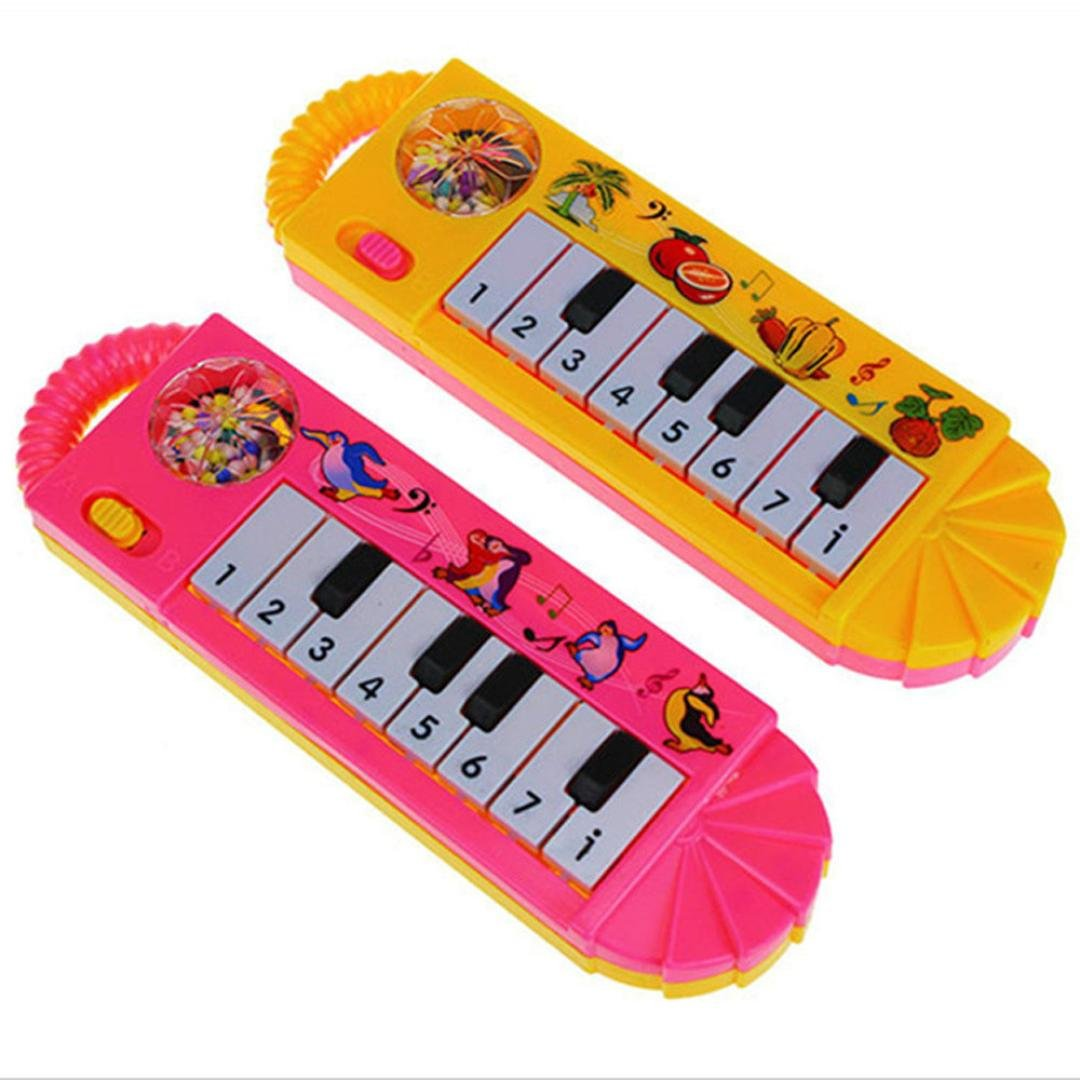 Gbell Musical Piano Toy Early Educational Developmental Toy Play Keyboard Piano Educational Musical Toys for Baby Infant Toddler Kids (A)