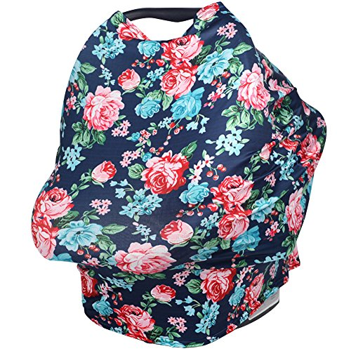 Olpchee Cotton Flower Nursing Breastfeeding Cover Fashion Multifunctional Car Seat Covers for Breastfeeding Moms