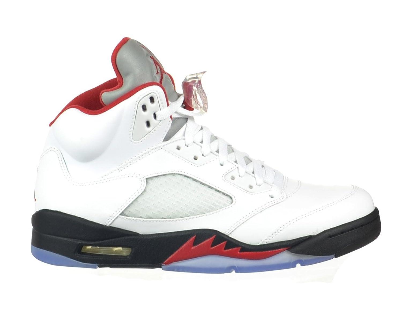Nike Air Jordan 5 Retro V 136027-120 FIRE RED 23 white/fire red-black - Air Jordan 100% authentique 6zpX0tFzM