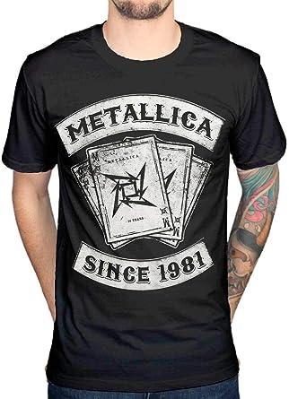 Oficial Metallica Dealer Since 1981 T-Shirt: Amazon.es: Ropa y accesorios