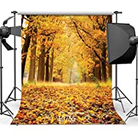 SJOLOON Autumn Backdrop Beautiful Natural Scenic Photography Background 10x10ft Wedding Newborn Children Backdrop 10755