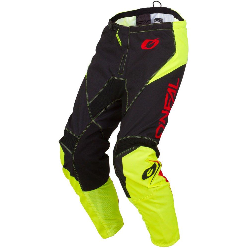 ONeal Element Racewear Neon Yellow Adult motocross MX off-road dirt bike Jersey Pants combo riding gear set Pants W28 // Jersey Small