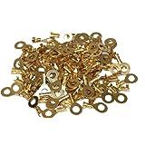 Aerzetix: Lot de 100 cosses électriques rondes oeil oeillet 6,4 mm - C1211