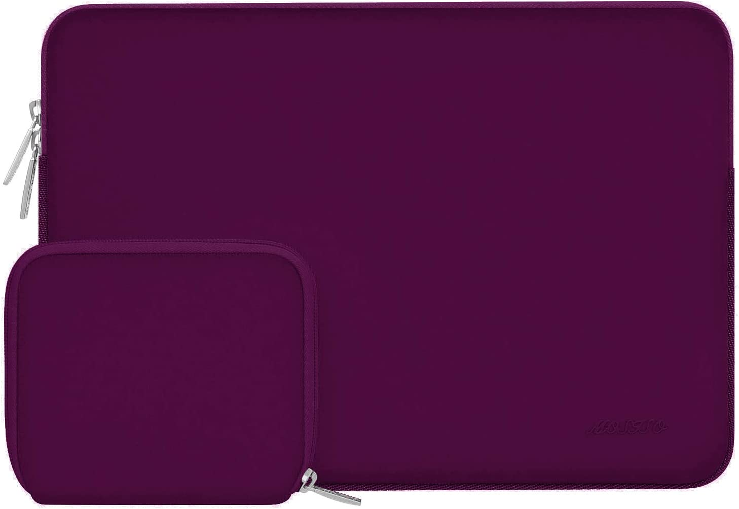 MOSISO Laptop Sleeve Compatible with 13-13.3 inch MacBook Pro, MacBook Air, Notebook Computer, Water Repellent Neoprene Bag with Small Case, Magenta Purple