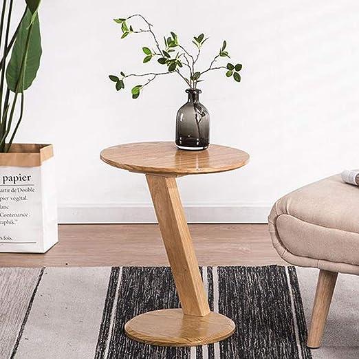 ACZZ Mesa auxiliar para sofá, mesa auxiliar redonda, patas ...