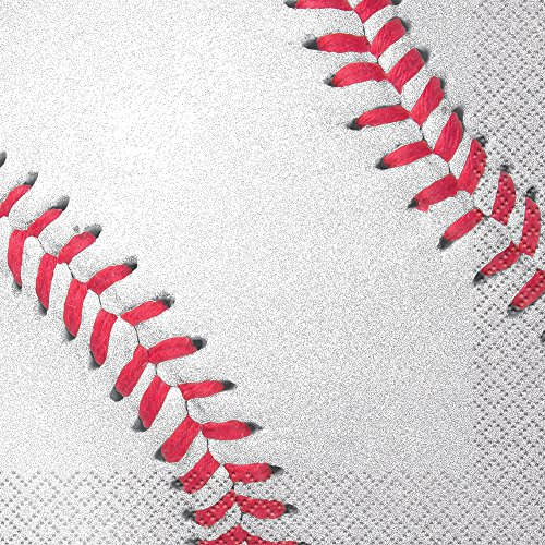Baseball Beverage Napkins, -