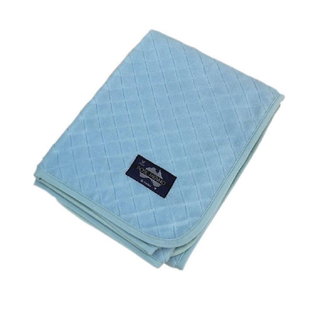 京都西川 ウール敷きパッド毛布 ローズメリノ 日本製 洗える ダブルサイズ 140×205cm ブルー WPO1238 D B01N1P7HOX ブルー ダブル
