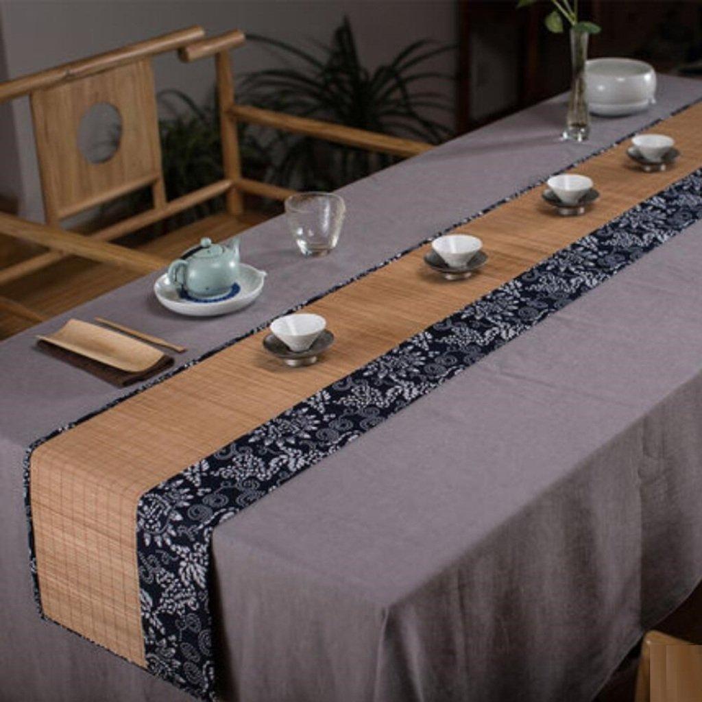ギャベ竹芸中国のレトロティーテーブルクロスコーヒーテーブルリネンランナー   B07FZ6X5YT