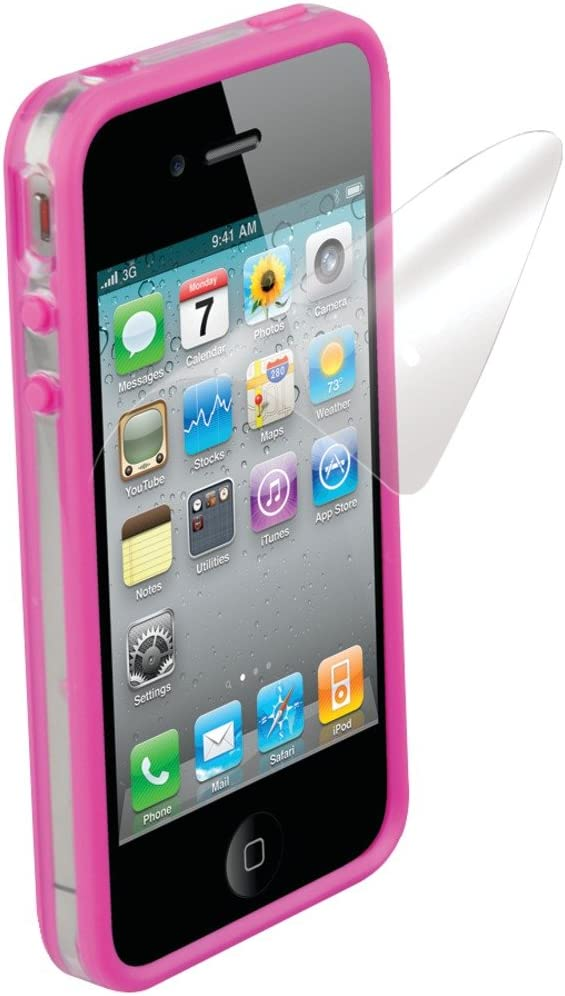Scosche IP4EBKV Clear on Pink Polycarbonate & Rubber Edge Case for the New iPhone 4S and iPhone 4 (Verizon and AT&T)