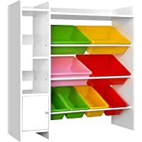 Keezi 8 Bin Toy Storage Shelf