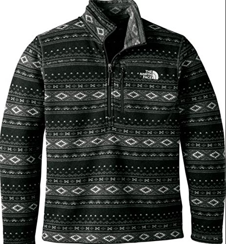 The North Face Novelty Gordon Lyons 1/4 Zip Mens Asphalt Grey Fair Isle Print XL