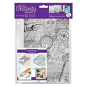 docrafts DCE907128 Creativity Essentials A5 Background Stamp, Steampunk