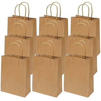 50 bolsas de papel kraft reciclado marrón para comida o fiesta ...