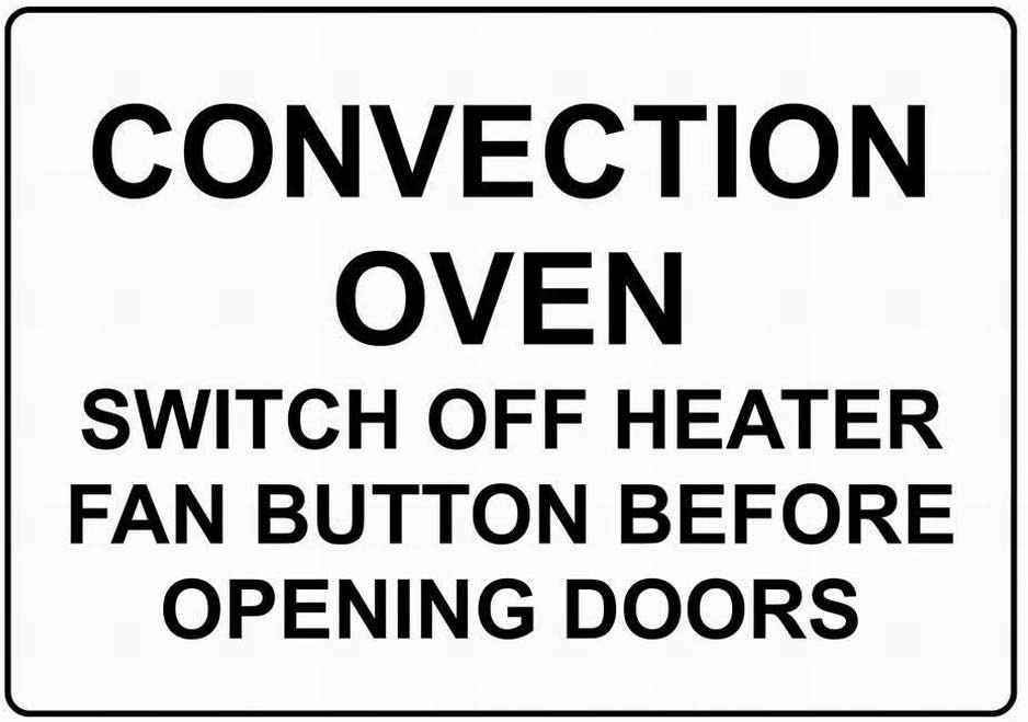 Ufcell Safety Signs Outdoor Wall Art Decor Convection Oven Switch Off Heater Fan Button Sign Warning Tin Metal Sign Notice Security Sign Street Decor 8x12