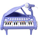 Amy&Benton Baby Piano Toy Toddler Purple Toy Piano Keyboard for Girls Birthday Gift Toys Kids
