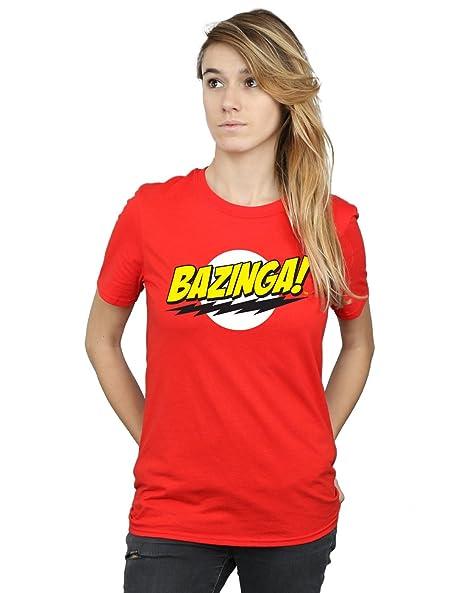 9a41d604 Amazon.com: The Big Bang Theory Women's Sheldon Bazinga Boyfriend Fit T- Shirt: Clothing