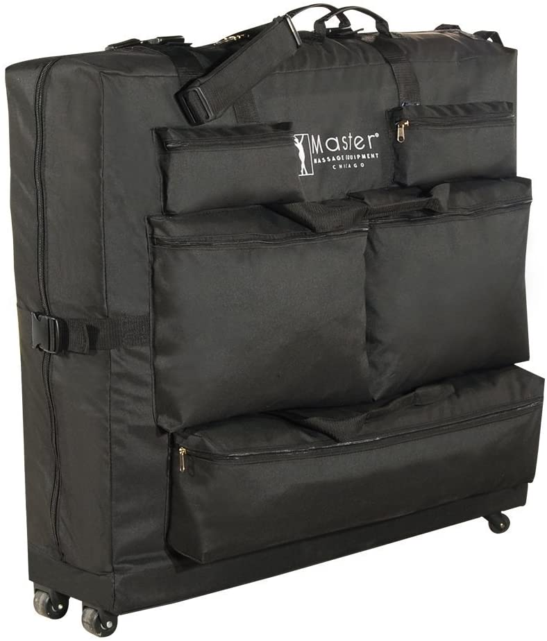 Master Massage Universal Wheeled Table Carry Case for Massage Table, Black: Health & Personal Care