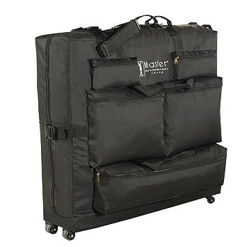 Masaje de Master Universal Wheeled común se funda con 4 ruedas para portátil plegable y 5 bolsillos Negros.: Amazon.es: Salud y cuidado personal