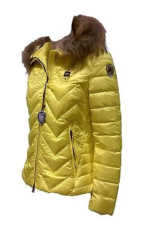 Blauer USA Damen Daunen Jacke mit Kapuze mod. 3014 gelb (212