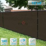 PATIO Fence Privacy Screen 10' x 4', Pergola Shade Cover Canopy Sun Block, Heavy Duty Fence Privacy Netting, Commercial Grade Privacy Fencing, 180 GSM, 90% Privacy Blockage (Brown)