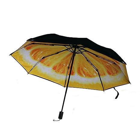 MyLifeUNIT limón compacto paraguas, amarillo naranja fruta plegable paraguas
