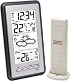 La Crosse Technology WS9130IT-S-MEG Weather Station with Indoor / Outdoor Temperature Metallic Grey with Radio Controlled Clock timing signal from Frankfurt Germany ( German Version )