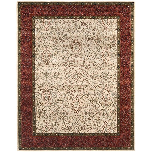 Safavieh Persian Legend Collection PL533A Handmade Traditional Ivory and Rust Wool Area Rug (7