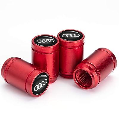 PATWAY 4 Pcs Metal Car Wheel Tire Valve Stem Caps for Audi S Line S3 S4 S5 S6 S7 S8 A1 A3 RS3 A4 A5 A6 A7 RS7 A8 Q3 Q5 Q7 R8 Logo Styling Decoration Accessories.: Automotive